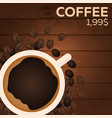 coffee price fast food restauran menu vector image vector image