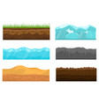 color cross section of ground set vector image vector image