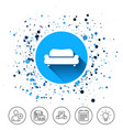 comfortable sofa icon modern couch symbol vector image vector image