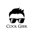 Cool geek logo template vector image vector image