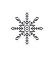 creative snowflake line icon concept creative vector image vector image