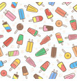 cute seamless summer pattern with fruit icecream vector image