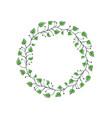 decorative leaf romantic blossom vector image
