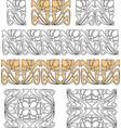 design elements in art nouveau style vector image vector image
