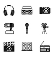 Electronic communication icons set simple style vector image vector image
