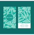 emerald green plants vertical round frame vector image vector image