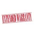 extended warranty red grunge vintage stamp vector image vector image