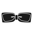 festive bow tie icon simple style vector image