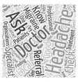 Finding a Migraine Doctor Word Cloud Concept vector image vector image