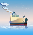 fishing boat vector image vector image