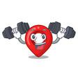 fitness gps navigation pin on character cartoon vector image