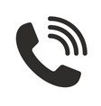 flat phone icon vector image vector image