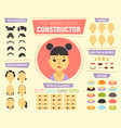 Flat women avatar constructor for generating