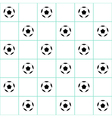 Football Ball Mint Green Grid White Background vector image vector image