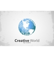 Globe logo Creative world design Creative logo vector image
