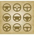 handlebars automotive icons Steering Wheel vector image