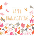 happy thanksgiving scandi style card with autumn vector image vector image