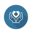 Health Care Center Icon Flat Design vector image vector image