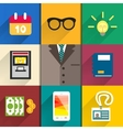 Icons set of office accessories vector image
