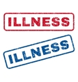 Illness Rubber Stamps vector image vector image