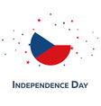 independence day of czech republic patriotic vector image vector image