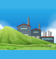 isolated factory in nature vector image vector image