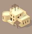 isometric arab house vector image