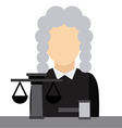 judge job vector image vector image