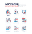 legal services - line design style icons set vector image vector image