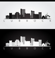 lubbock usa skyline and landmarks silhouette vector image vector image