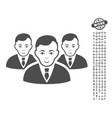 Manager Group Icon With Bonus vector image vector image