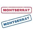 Montserrat Rubber Stamps vector image vector image