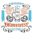 Oktoberfest hand drawn set vector image