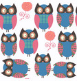 owls abstract nature animals seamless pattern it vector image vector image