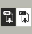 pdf - icon vector image vector image