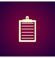 Personal organizer Flat design style vector image