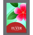 Red flowers on a flyer Can be used as greeting vector image vector image