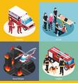 rescue team 2x2 design concept vector image vector image
