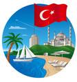 resort in turkey vector image vector image