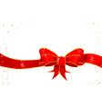 ribbon with sparkles vector image