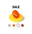 Sale icon in different style vector image vector image