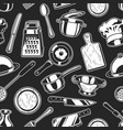 seamless cooking background vector image