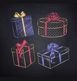 set gift boxes vector image vector image