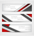 set of banners with lines paper business design vector image