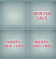 set of holiday winter backgrounds vector image
