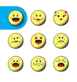 Set of retro emoji emoticons vector image vector image