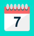 simple flat calendar vector image