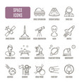 space icons set of pictogram vector image vector image