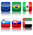 square national flags icon set 3