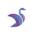 swan animal modern logo vector image vector image